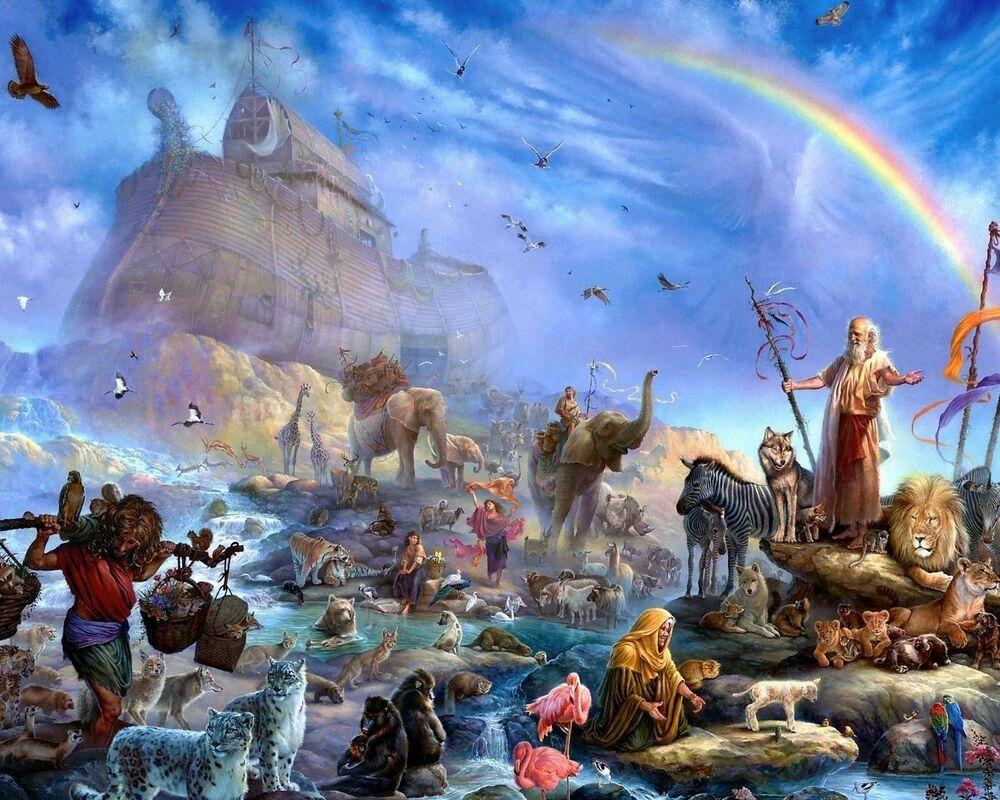Prophet Noah النبی نوح Noah   Landscape art painting, Painting, Art painting