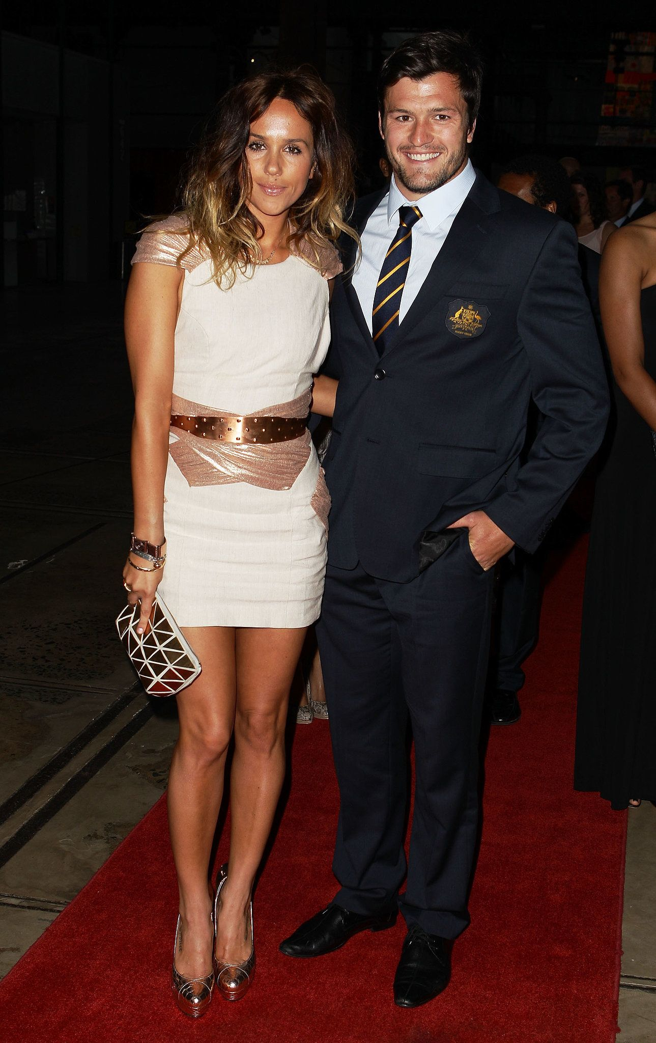 Edwards and Adam Ashley Cooper at the John Eales Medal in 2010