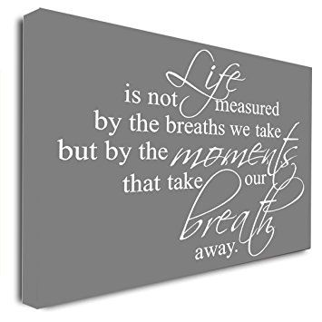 Framed Canvas Print Life Is Not Measured By The Breaths We Take But By The Moments That Take Our Breath Awa Framed Canvas Prints Framed Canvas Art Canvas Frame