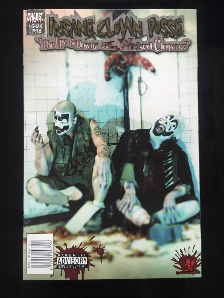 icp chaos comic issue 1 photo cover special edition insane clown