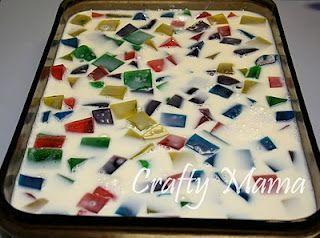 Mosaic Jello Crafty Mama Mosaic Jello Recipe Jello Recipes Xmas Food