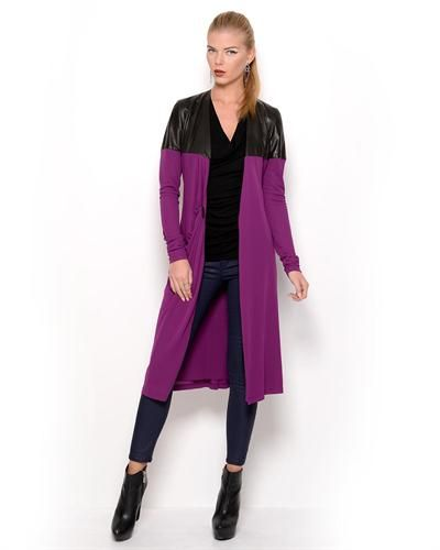 Jean Paul Gaultier Femme Genuine Leather Inset Coat - Made in Europe  JeanWomen #Outerwear