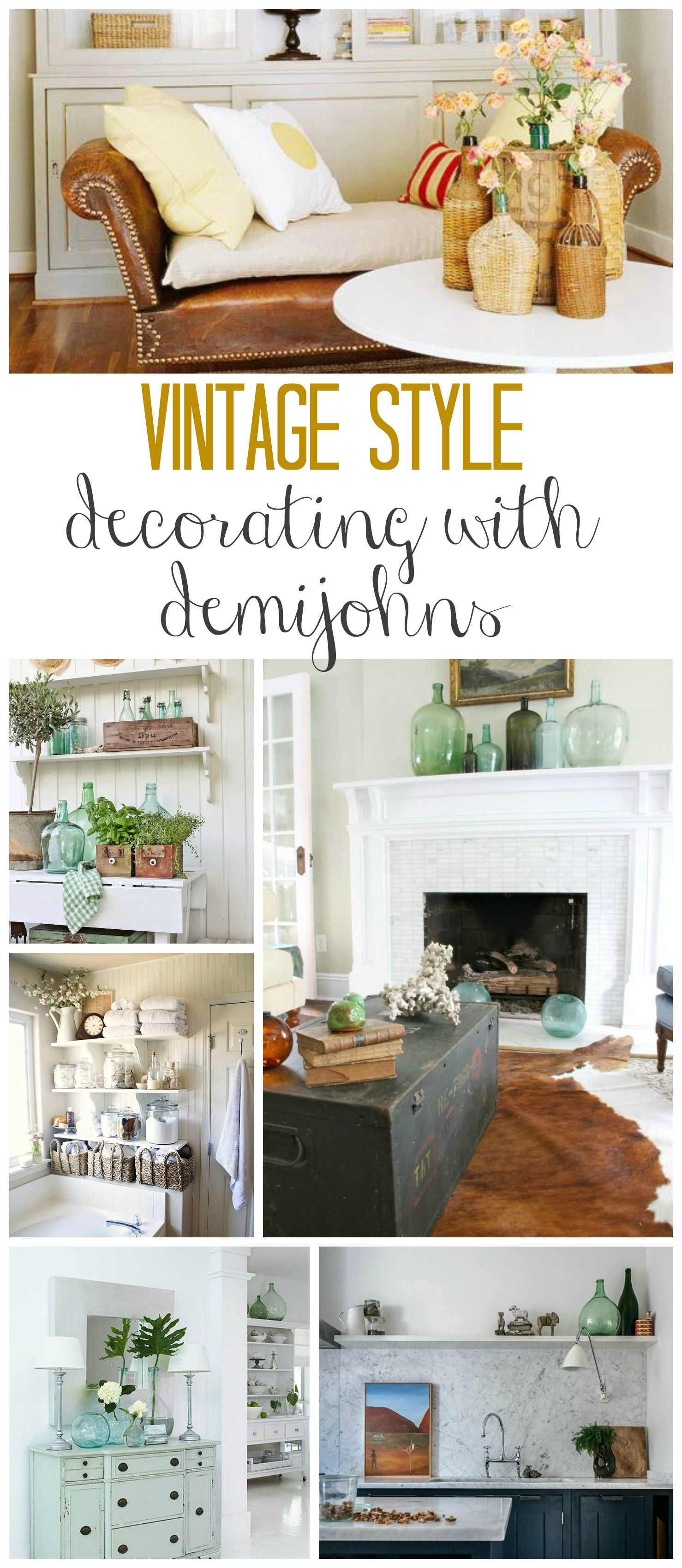 How to Decorate With Vintage Glass Bottles | Pin NOW, Check ...