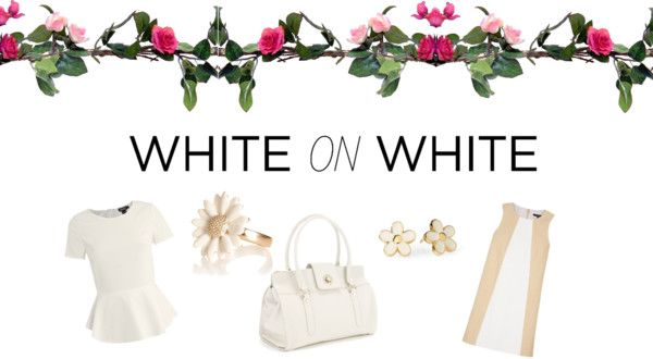 """White is the new Black"" by ucanrockcnd ❤ liked on Polyvore"