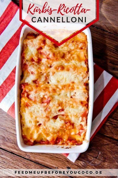Hallo Herbst: Ricotta-Kürbis-Cannelloni #herbstgerichte