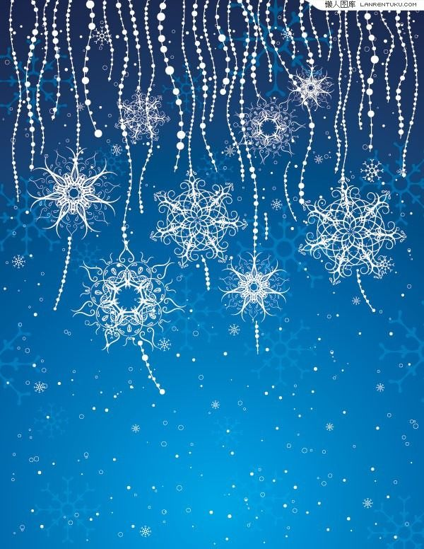 Colorful snowflake background vector material Cellphone