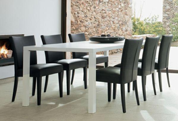 schwarze stühle ziel | möbelideen, Esszimmer dekoo