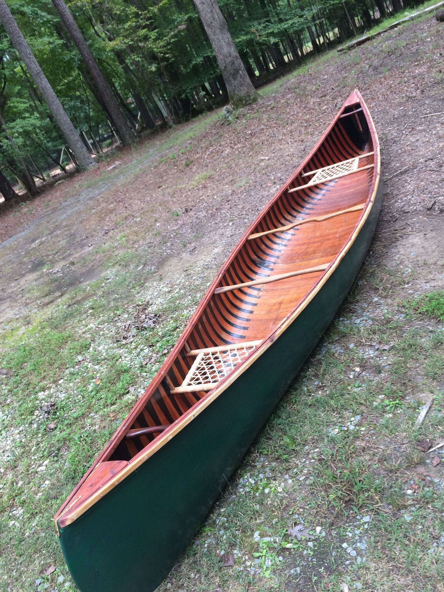 Old hand made canoe.