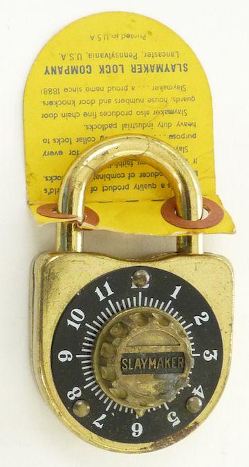 Vintage Slaymaker Keyless Combination Padlock
