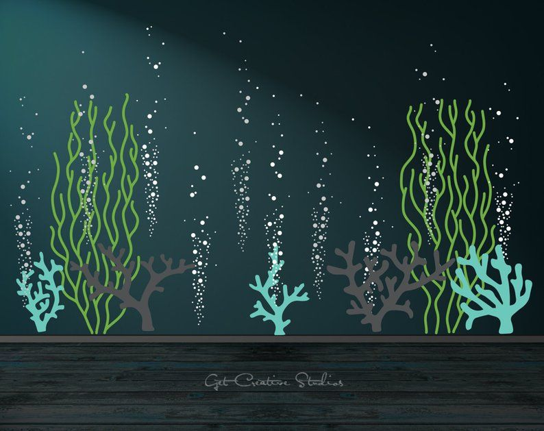 Underwater Decal Ocean Wall Decal Bubble Wall Decal Aquarium Etsy Bubble Wall Ocean Decor Ocean Room