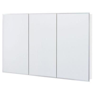 Frameless Surface Mount Bathroom Medicine Cabinet In White