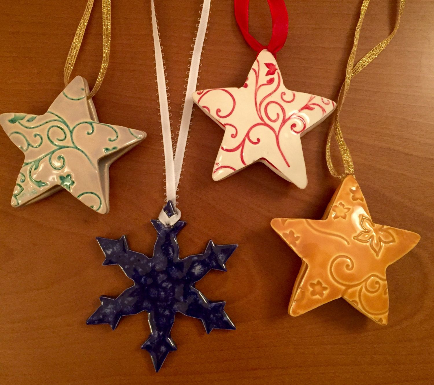 Christmas Ornament Workshop by LivingWaterPottery on Etsy