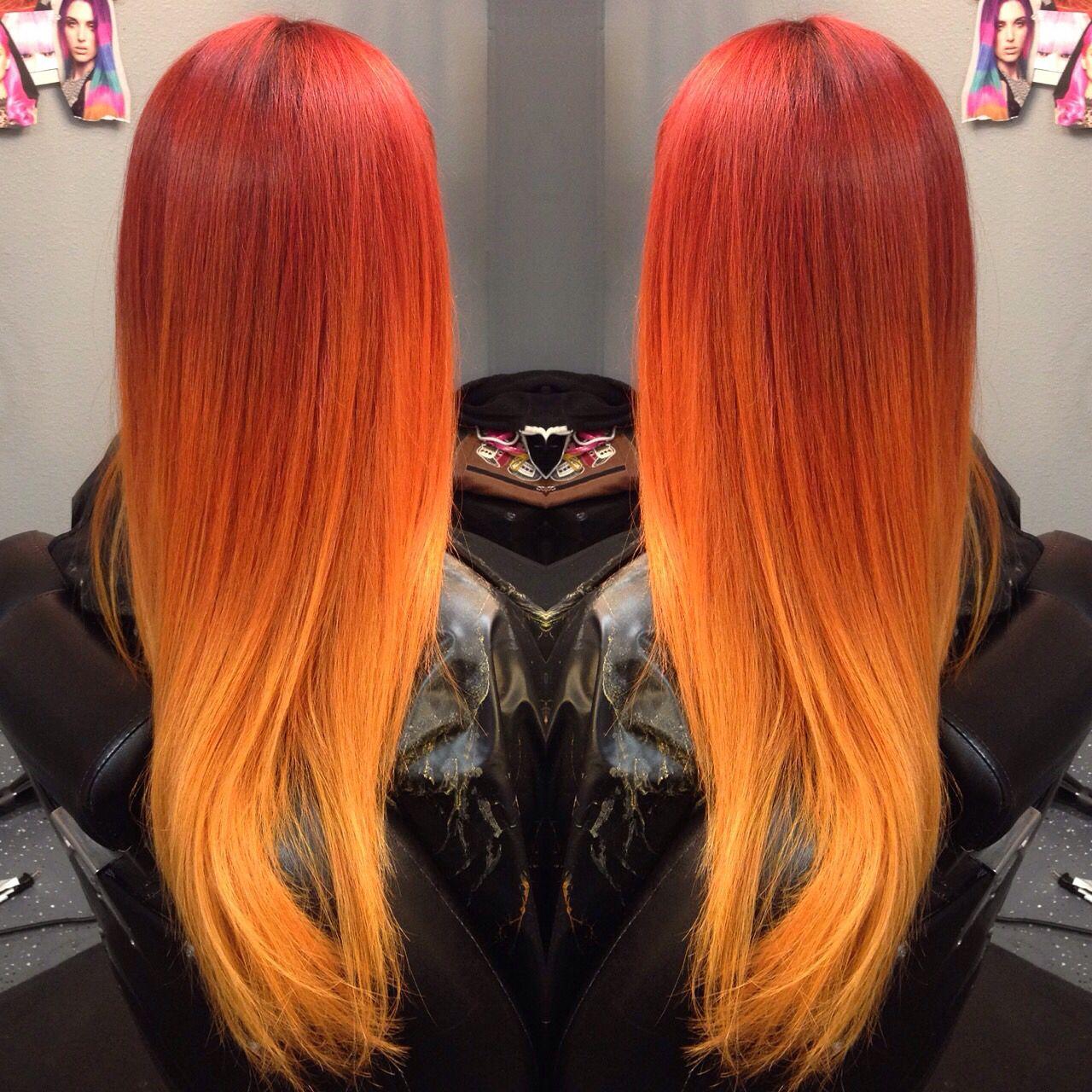 beautiful fiery red orange
