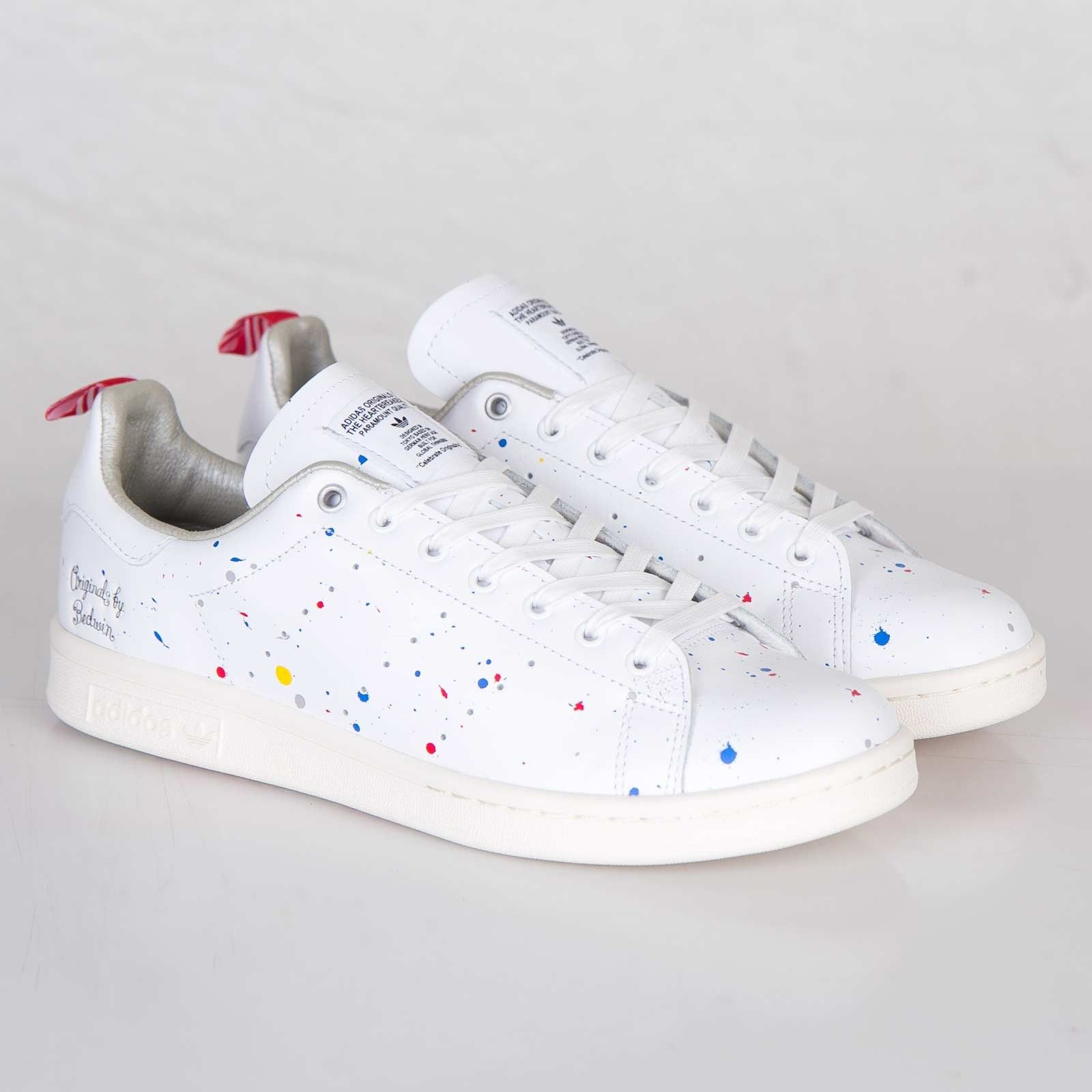 best authentic a2f8b ec6ee Adidas Original BW Stan Smith Femme Baskets Training blanc et multi color  eZhDF