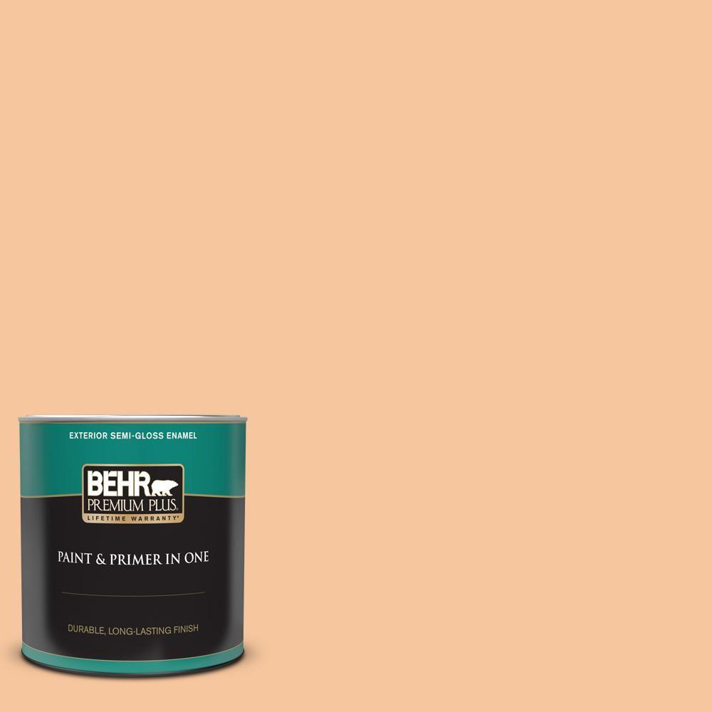 Behr Premium Plus 1 Qt M230 4 Cactus Blooms Semi Gloss Enamel Exterior Paint And Primer In One 540004 The Home Depot Behr Premium Plus Exterior Paint Behr Premium Plus Exterior