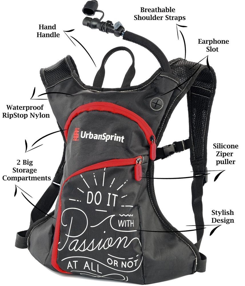 e7521d2929 UrbanSprint Hydration Backpack with 1.5L Water Bladder -Anti Dust Cover And  Insu #UrbanSprint