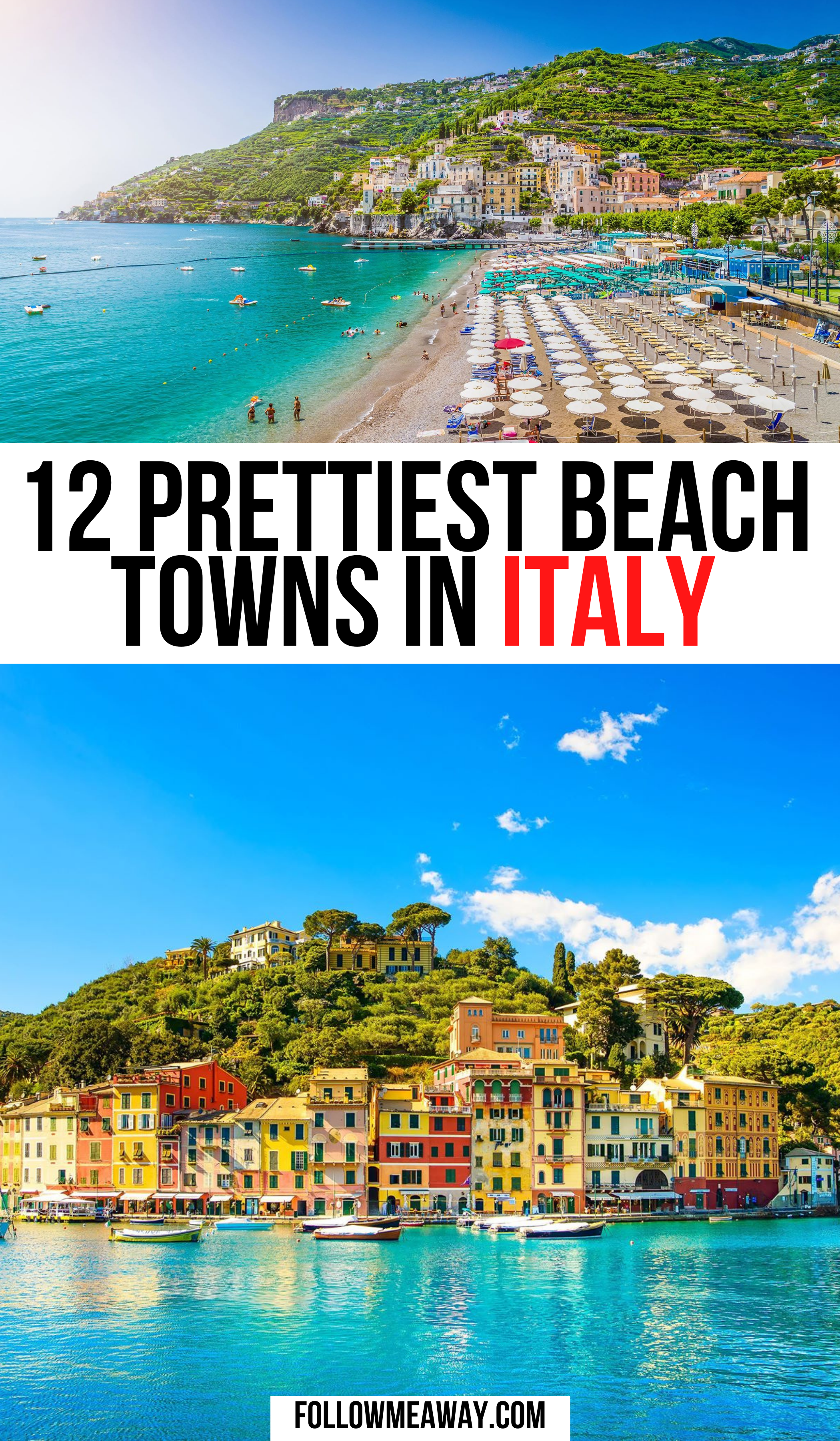 12 Prettiest Beach Towns In Italy | things to do in italy | where to go in italy | bucket list locations in Italy | best things to see in Italy | best towns to stay in italy | cutest beaches in italy #italy #traveltips