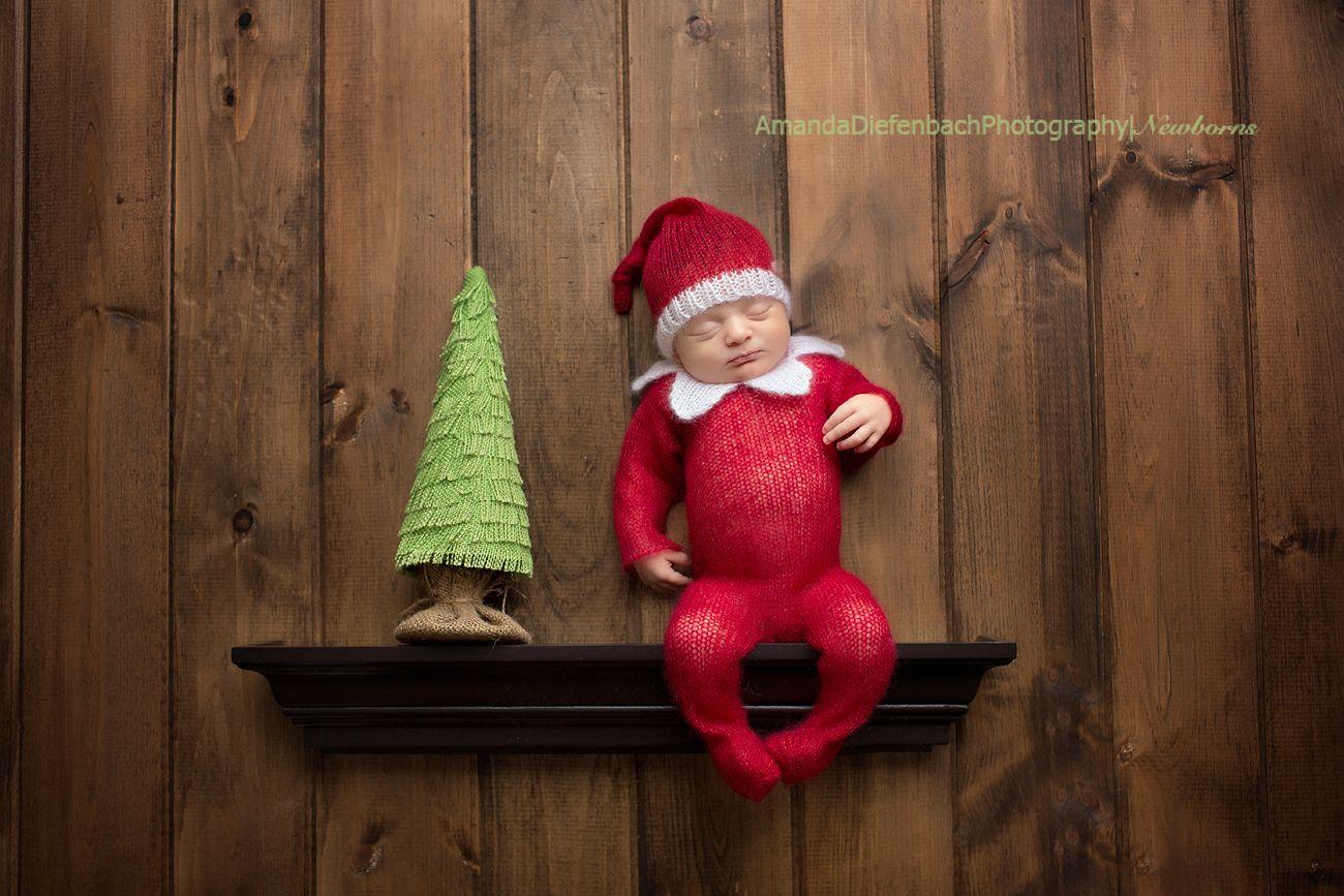 Amanda Diefenbach Photography Elf On The Shelf Newborn