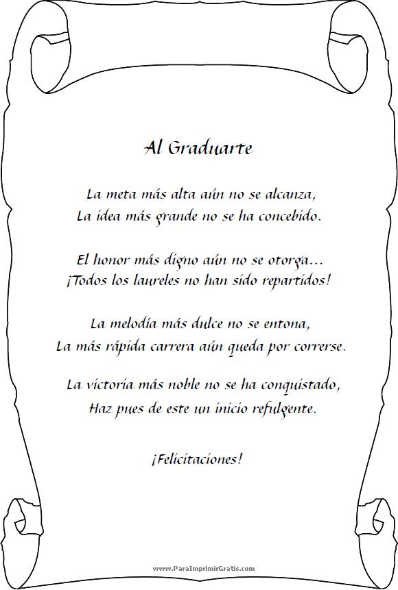 poesia graduacion - Google Search | GRADUACION!!! | Pinterest ...