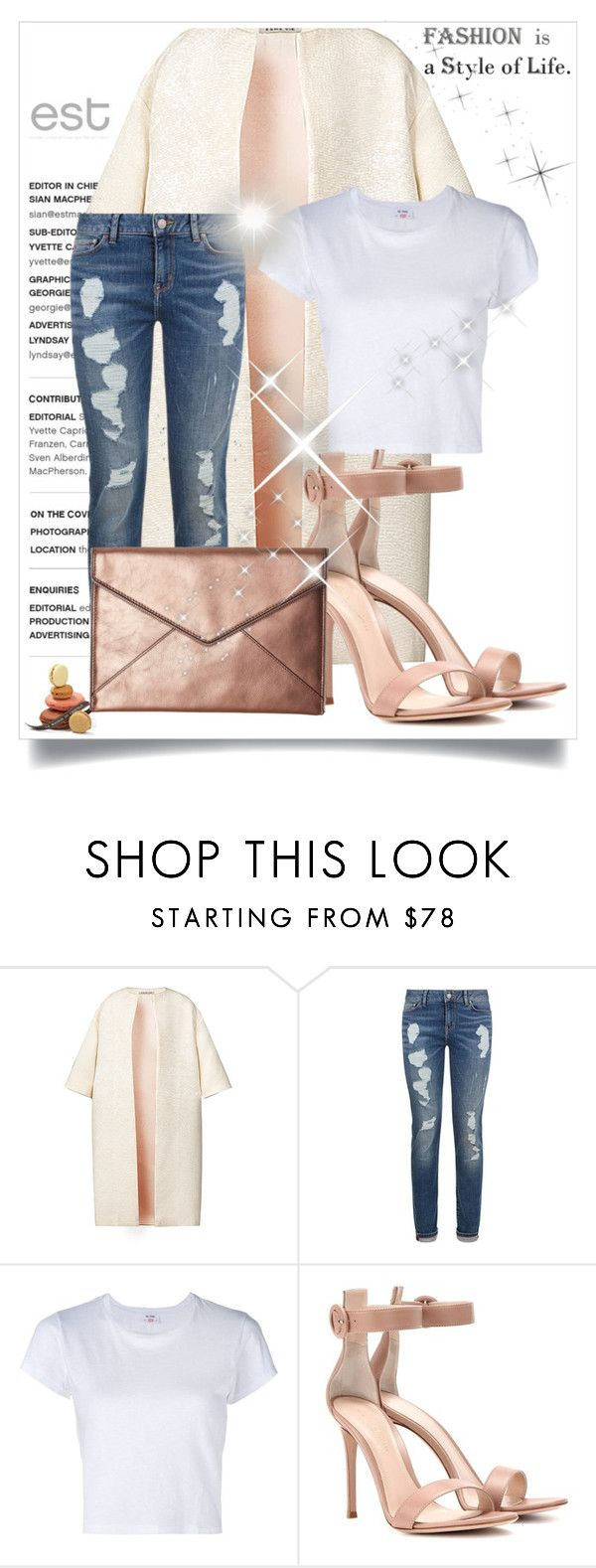 """Sem título #3441"" by mr-1 on Polyvore featuring moda, Esme Vie, Tommy Hilfiger, RE/DONE, Gianvito Rossi e Rebecca Minkoff"