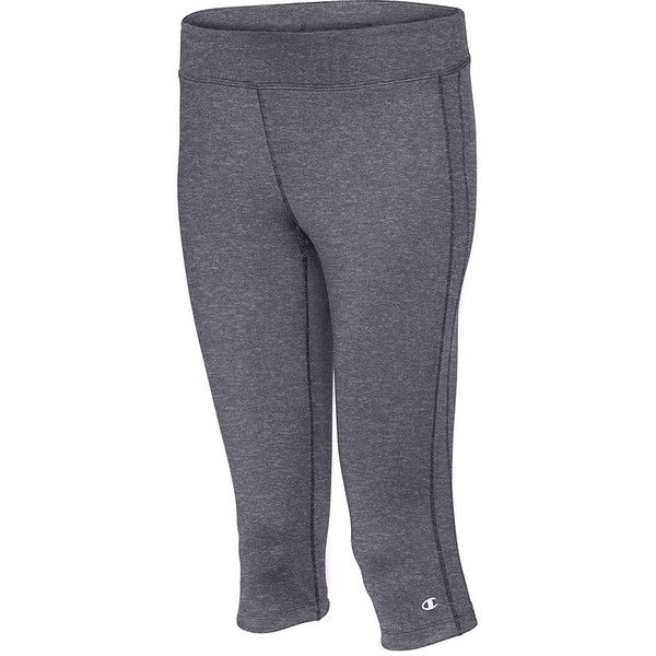 eac7e4e0e0c19 Women's Champion Double Dry Absolute Workout Capri Leggings ($30) ❤ liked  on Polyvore featuring activewear, activewear pants, granite heather, ...