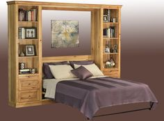 Horizontal Murphy Bed With Desk   Guest Bedroom | Stuart David Furniture
