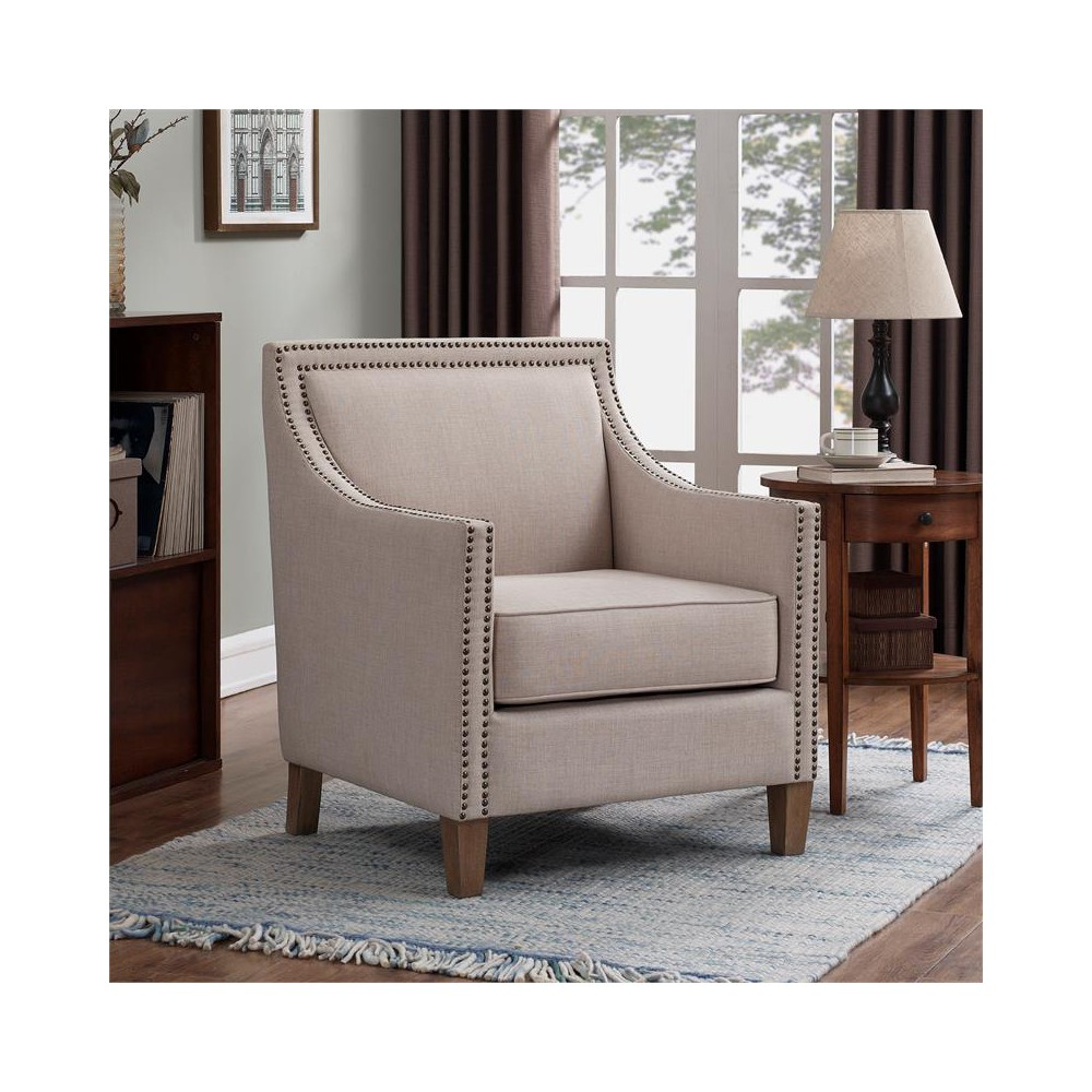 Taslo Sand Accent Chair In Beige Comfort Pointe In 2020 Accent