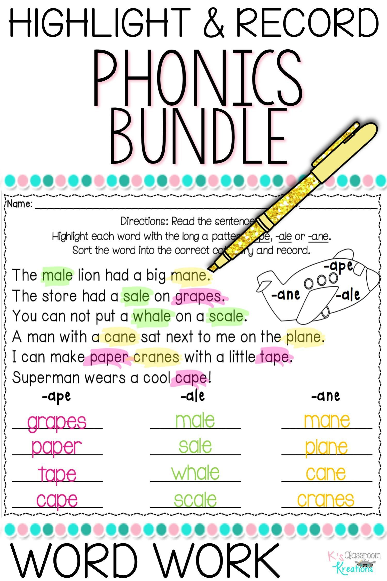Second Grade Phonics Worksheets In 2020 Word Work Phonics Phonics Worksheets