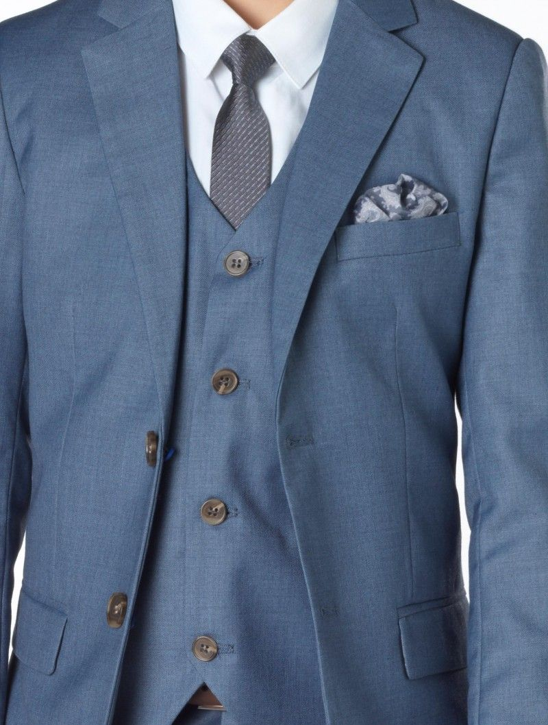 Boys blue chambray wedding suit - Sampson | Pinterest | Wedding ...