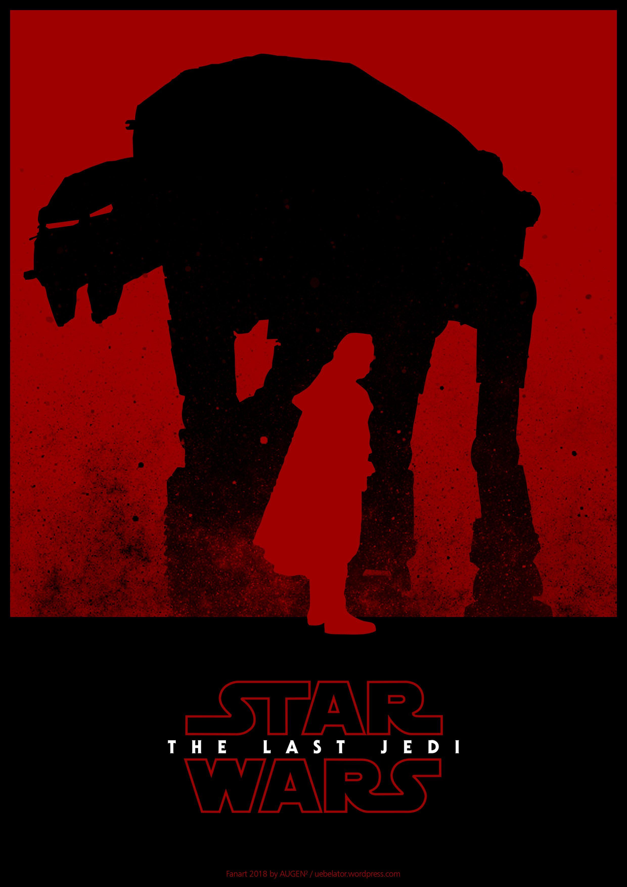 Star Wars The Last Jedi Minimalist Fanart Poster By Augen Last Jedi Comic Poster War