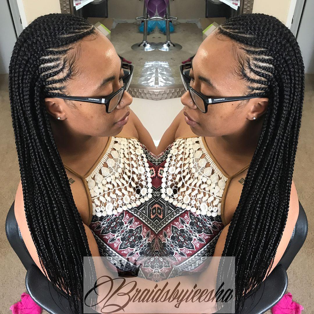 Medium waistlength cornrows with bb braids pinterest