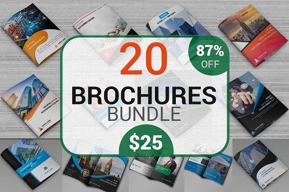 20 Corporate Brochure Bundle Corporate brochure, Brochures and