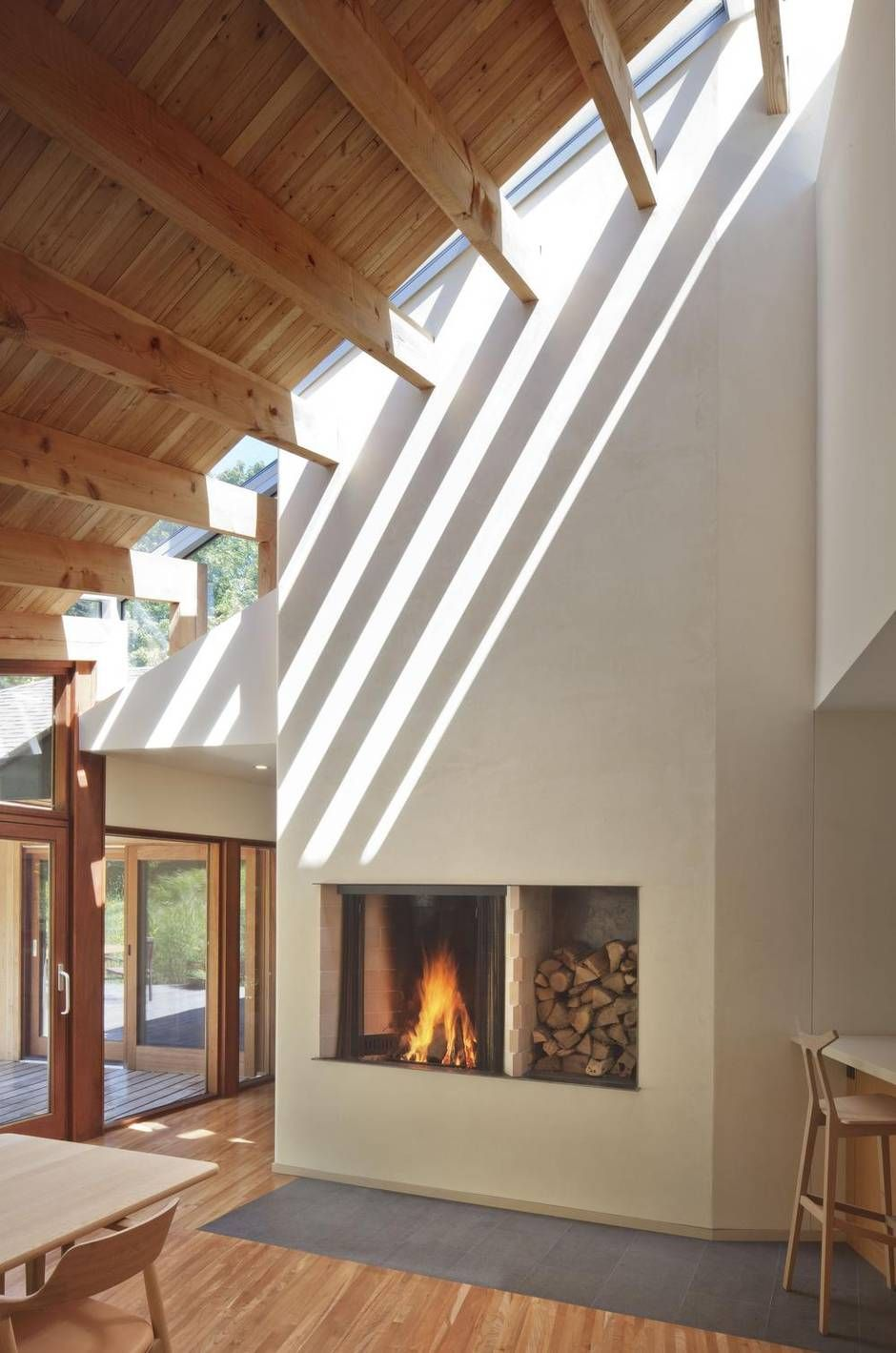 Five Ways To Transform Any Space In Your Home With A Skylight Roof Design Natural Lighting Design Modern Roof Design