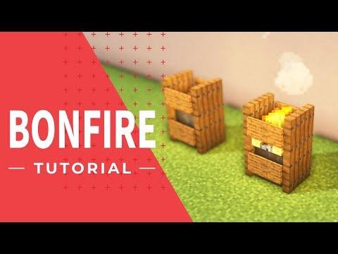 マインクラフト家具 オシャレな和風の松明 かがり火 の作り方