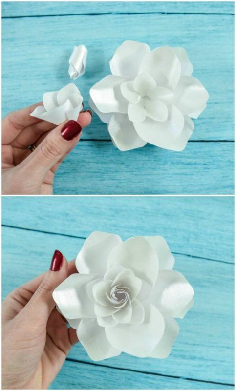 Diy Paper Gardenia Flower Tutorial Lets Pin Pinterest Diy