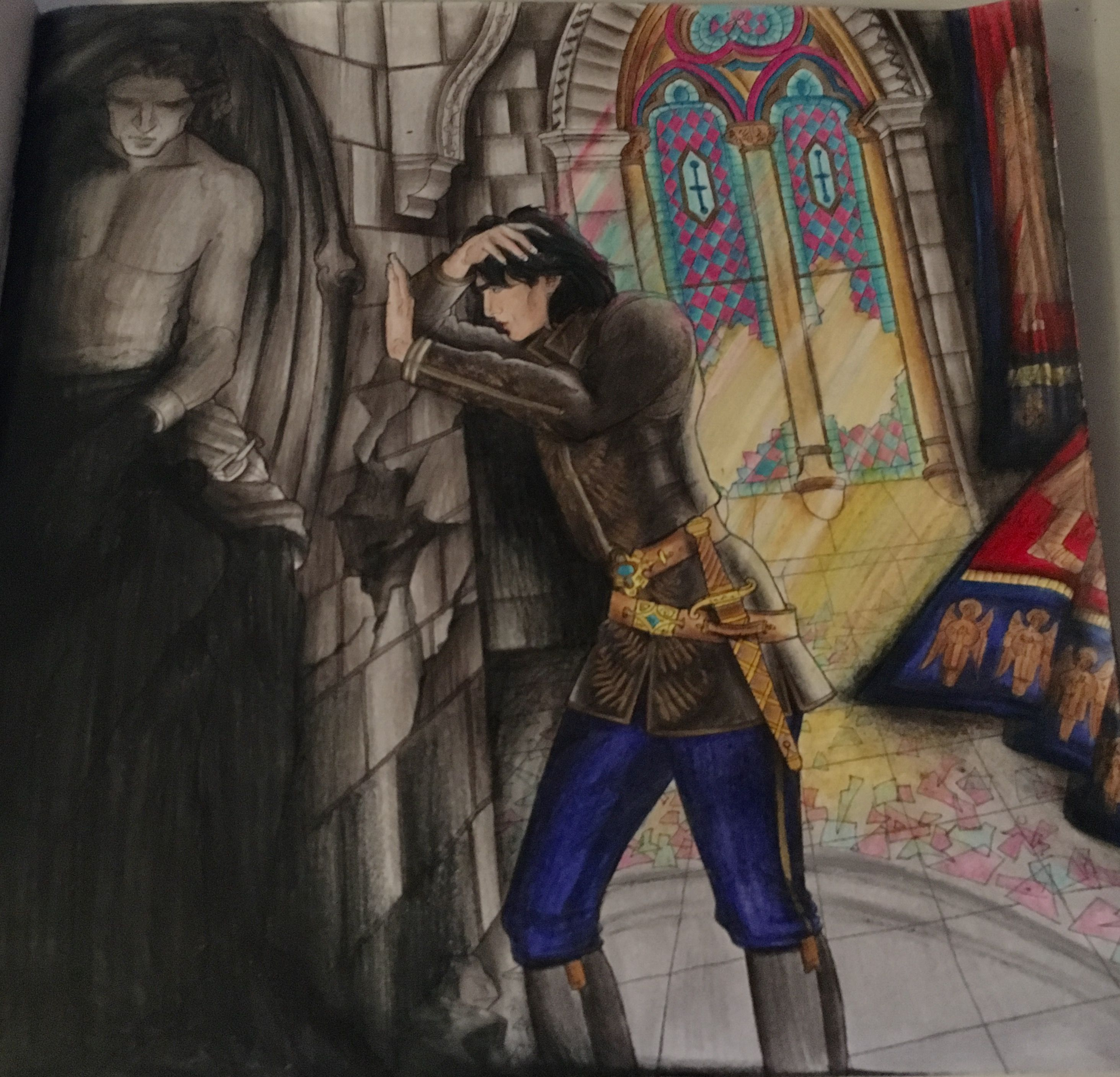 Dorian Throne Of Glass Coloring Book Coloured By Sendaria And