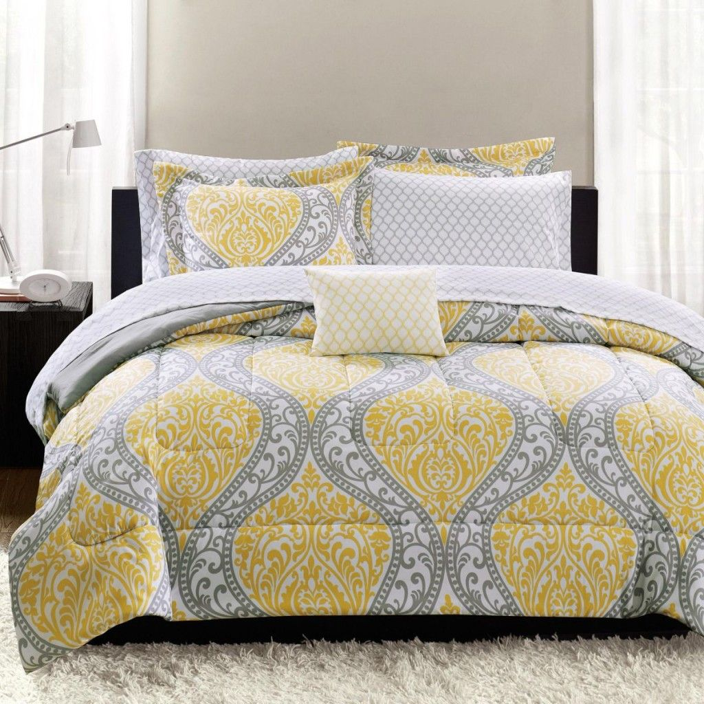 Perfect Yellow And Gray Bedding That Will Make Your Bedroom Pop Design Inspirations