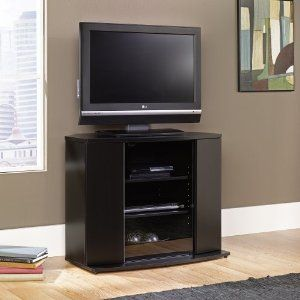 Matte Black Tall TV stand Television Stands Furniture & Decor ...