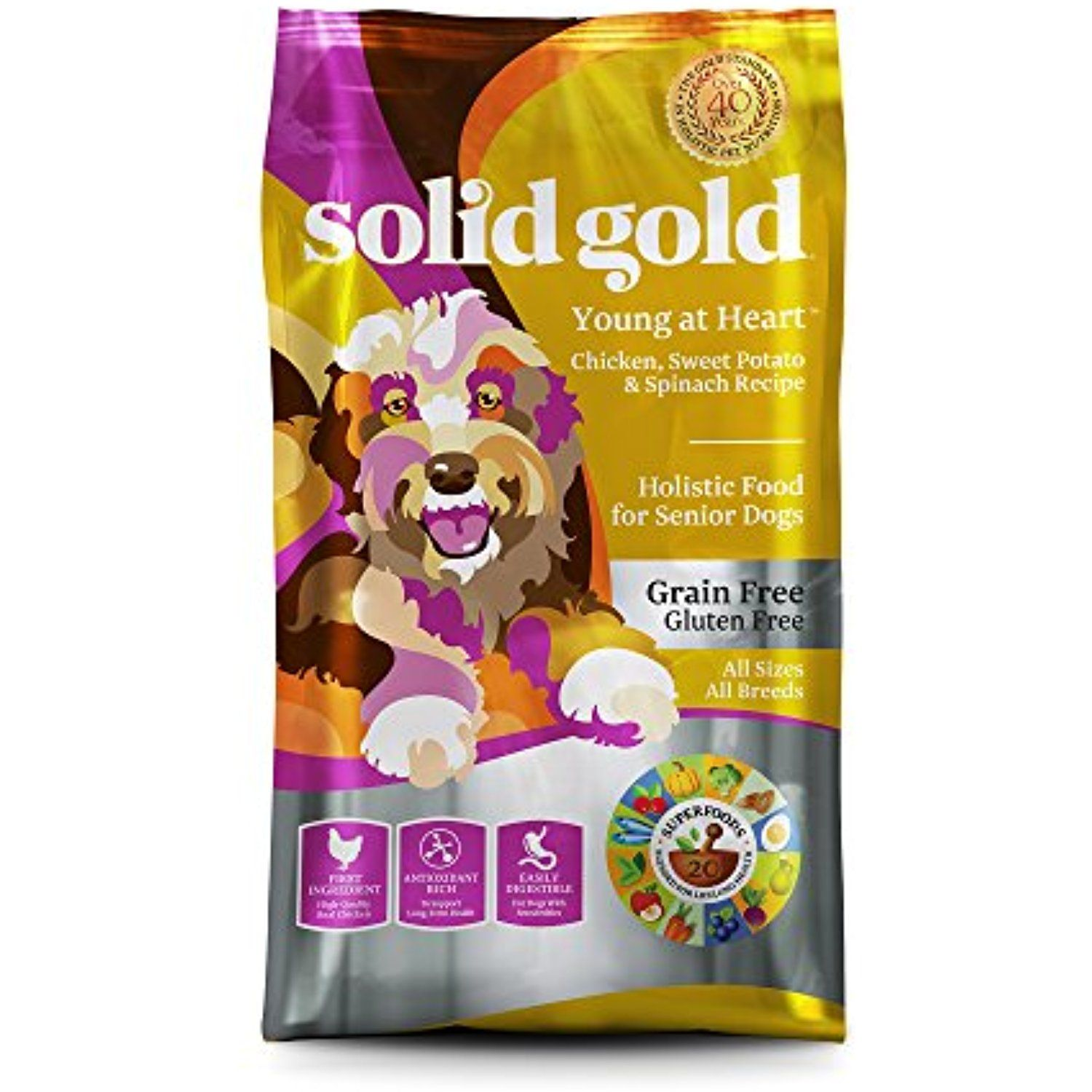 Solid Gold 12424 Young At Heart Chicken Sweet Potato Spinach