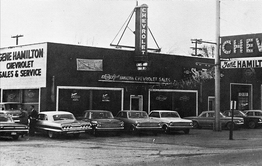 1963 Gene Hamilton Chevrolet Dealership, Warren, Michigan | Vintage
