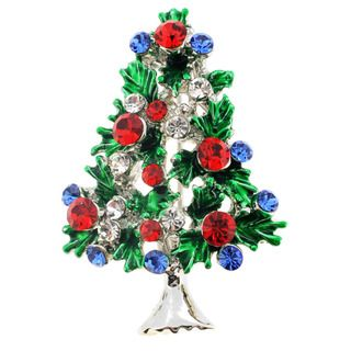 Ruby Christmas Tree Pin Christmas Pin Brooch - Overstock™ Shopping ...