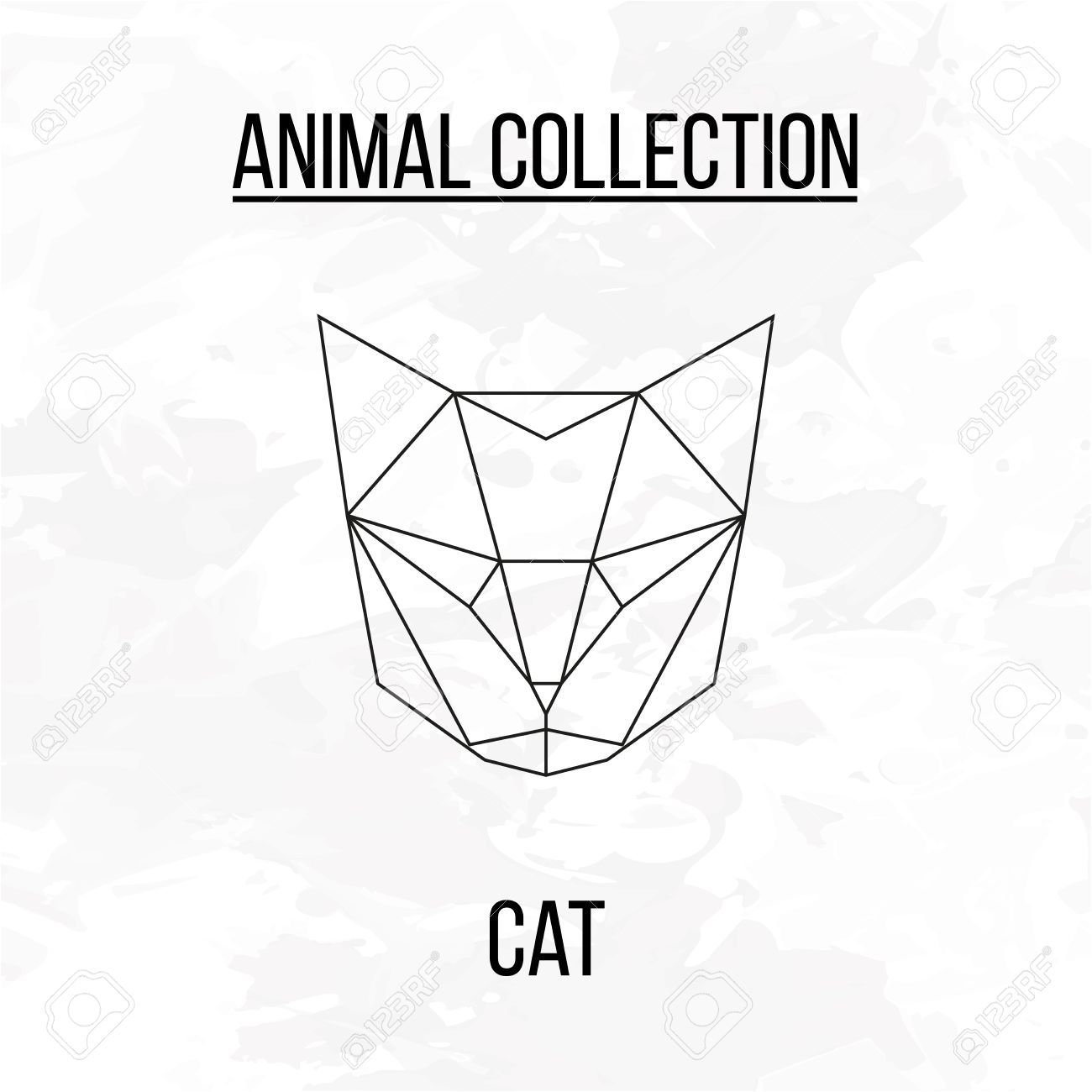 Geometric Animal Cat Head Background Royalty Free Cliparts Vectors And Stock Illustration Image 55413498 Geometric Animals Geometric Cat Geometric