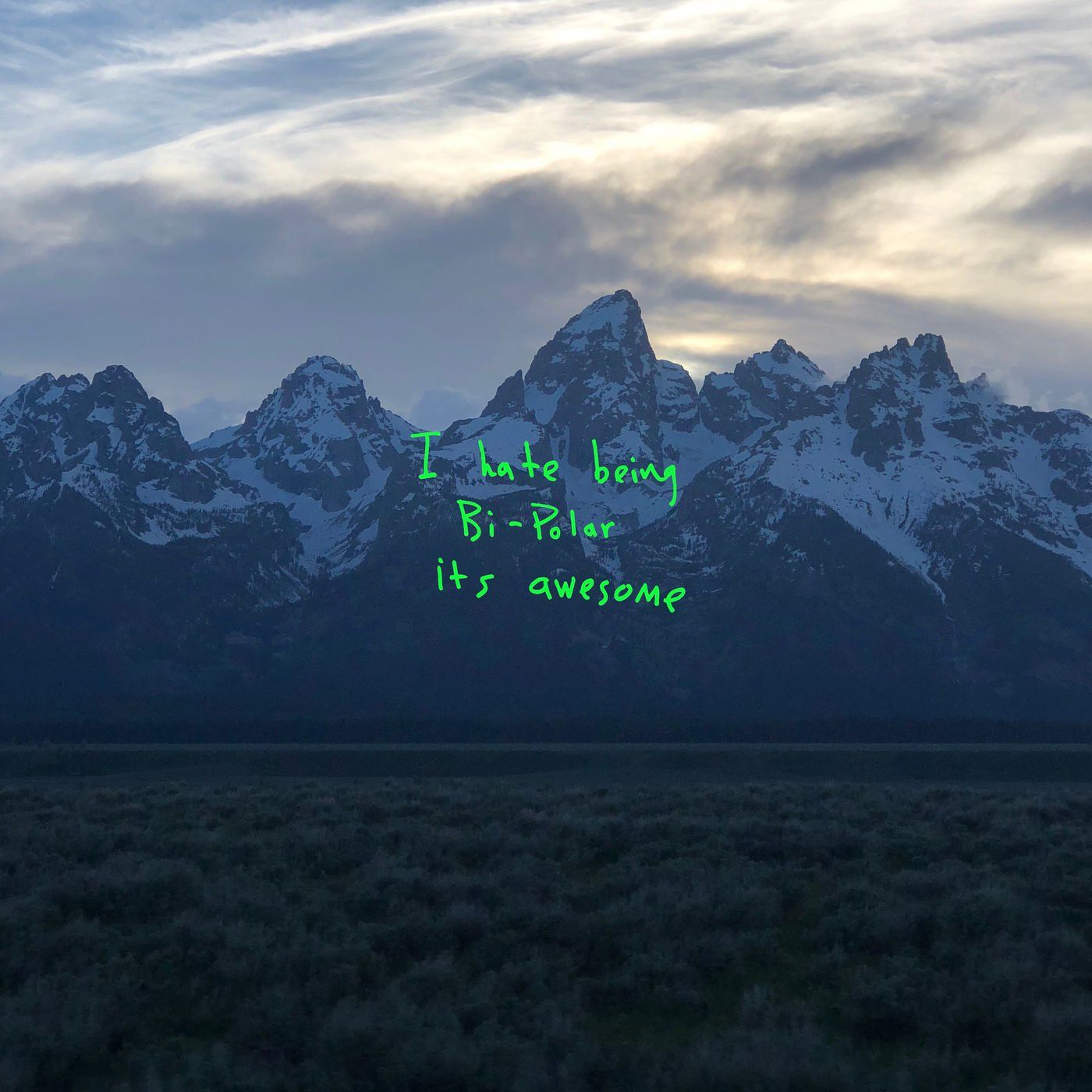 Kanye Shot His Own Album Cover Pic With His Iphone At The Last Minute Kanye West New Album Kanye West Album Cover Kanye West Albums
