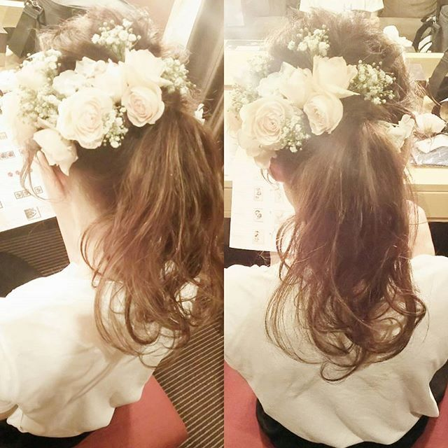 花嫁 花嫁ヘア ウェディング ウェディングドレス ブライダル ブライダルヘア ブライダルヘアメイク 結婚式 ヘアスタイル