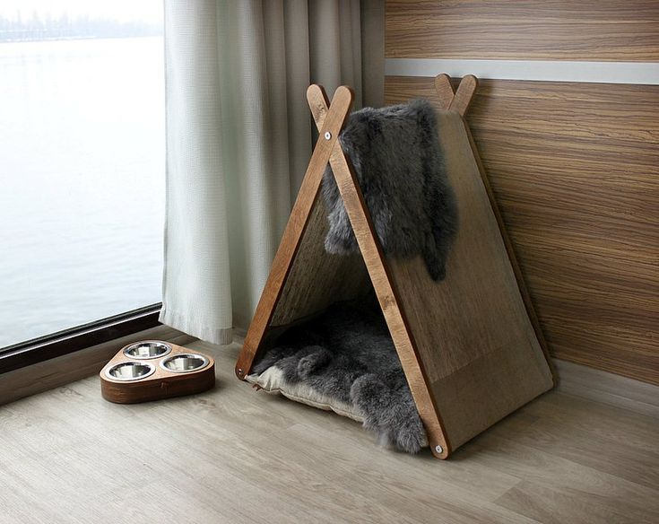 Photo of Cat furniture SET – For Cat Paw. Cat house, cat bowl, cat teepee, cat feeder, cat perch, cat dish, cat teepee bed, cat cave, pet teepee