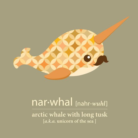 Cute Narwhal- Print File - Unicorn of the Sea - Personalized ...