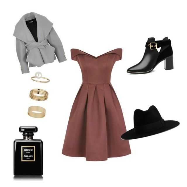 """""""Untitled #21"""" by claudiaberube on Polyvore featuring Chi Chi, Miss Selfridge, Balmain, Ted Baker and Yves Saint Laurent"""