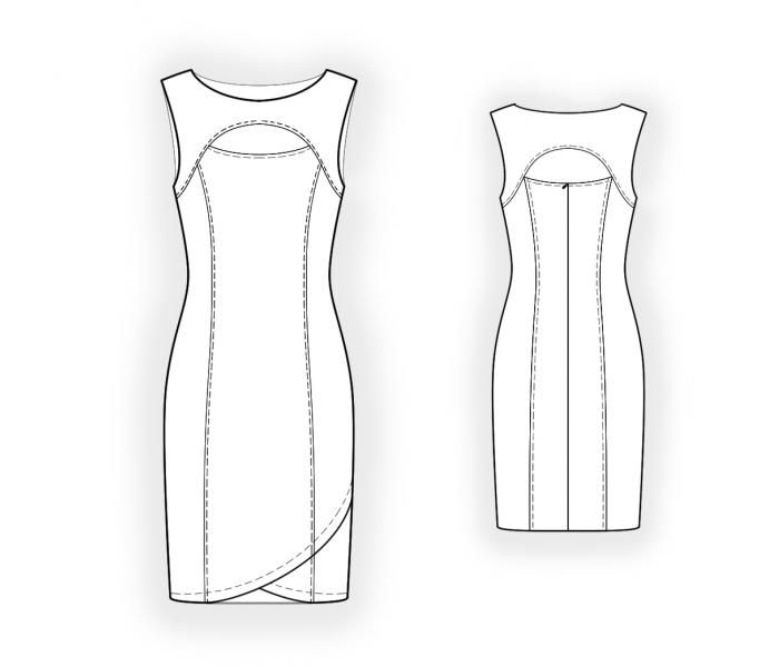 Sleeveless Dress - Sewing Pattern #4429. Made-to-measure sewing ...