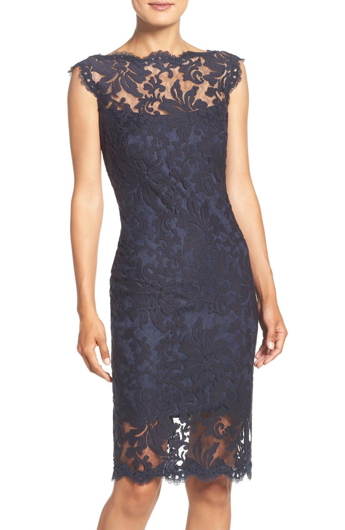 What to Wear to a SemiFormal Fall Wedding Lace sheath