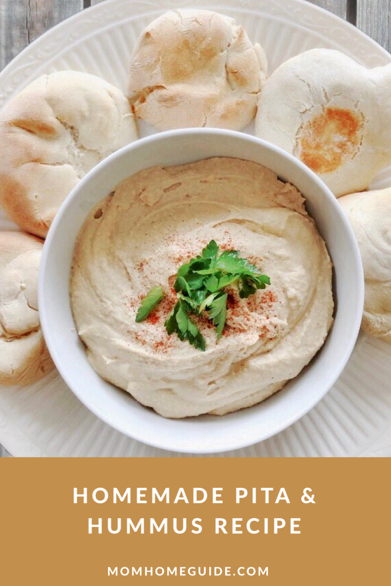Homemade Hummus Pita Spring Recipe Swap Momhomeguide Com Recipe Recipes Hummus And Pita Spring Recipes